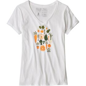 Patagonia Harvest Haul Organic Maglietta a maniche corte Donna bianco